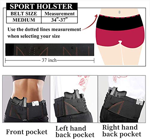 DMAIP  6 DMAIP Ultimate Belly Band Holster for Concealed Carry Gun Pistols Revolvers Bodyguard