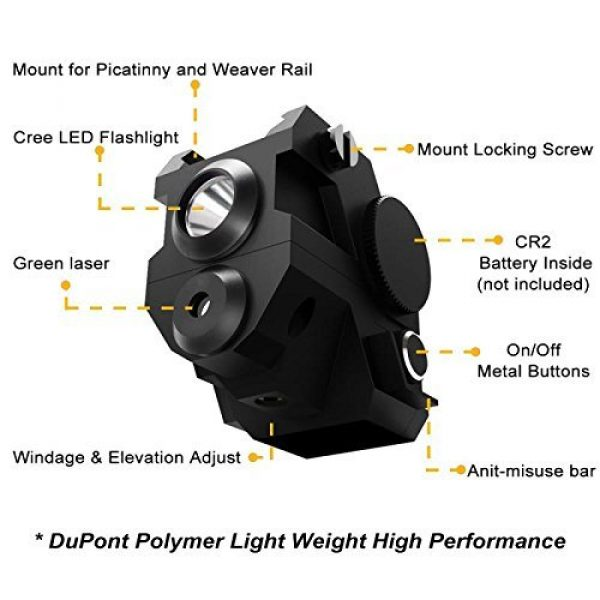 Ade Advanced Optics Airsoft Gun Sight 5 Ade Advanced Optics Reventon Series Strobe Green Laser Flashlight Sight for Pistol Handgun