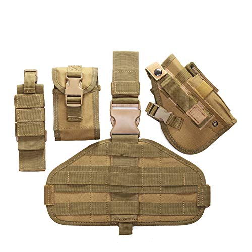 ESA Supplies  5 ESA Supplies Molle Airsoft Holster with Magzine Pouch Drop Leg Holsters Tactical Thigh Holsters for Glorck G17 G18 G19 G26 G34 M1911