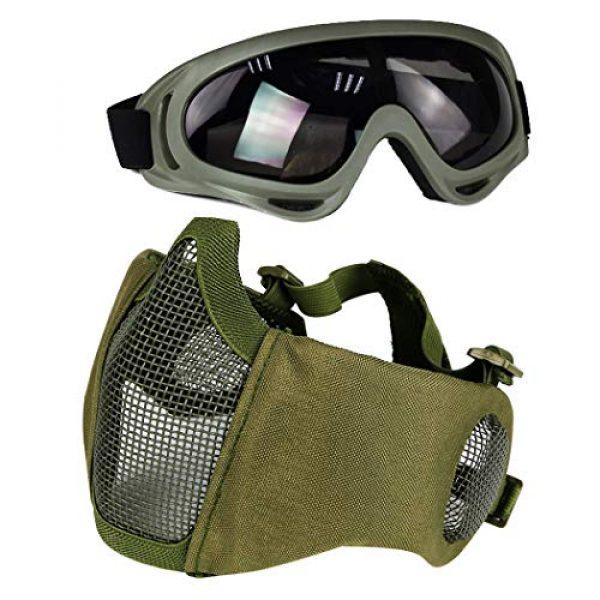 Aoutacc Airsoft Mask 1 Aoutacc Airsoft Mesh Mask