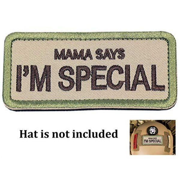 """Ehope Airsoft Patch 1 Ehope Mama Says I'm Special Patch Tactical Morale Military Patches Funny Embroidered Fastener Hook and Loop Patches 3.54"""" x 1.57""""(I'm Special-Multitan)"""