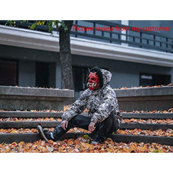 tripple_777 Airsoft Mask 7 tripple_777 Samurai Assassin Demon Oni Airsoft Mask BB Gun Halloween Costume Ninja Warrior Evil Cosplay red DA01