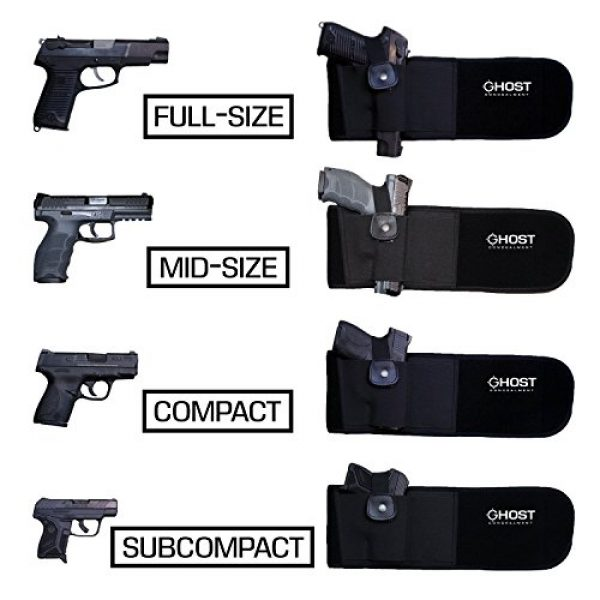Ghost Concealment  3 Ghost Concealment Belly Band Holster for Concealed Carry   IWB Gun Holsters   Men and Women