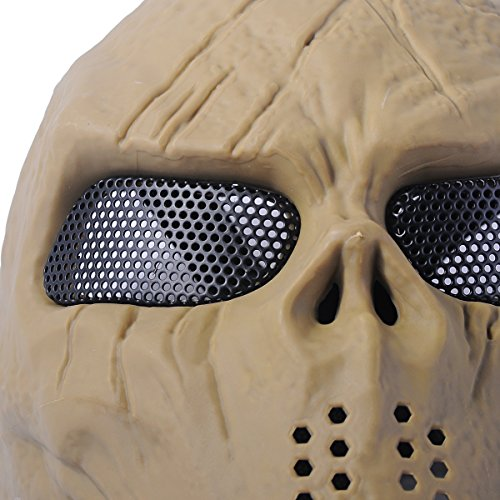 Outgeek Airsoft Mask 4 Outgeek Airsoft Mask Scary Skull Outdoor Full Face Mask Mesh Eye Protection Mask