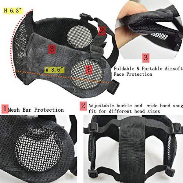 JFFCESTORE Airsoft Helmet 7 JFFCESTORE PJ Type Tactical Multifunctional Fast Helmet and Foldable Adjustable Half Mesh Mask