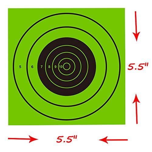 Pop Resin Airsoft Target 2 Pop Resin Splatter Shooting Target Air Shot Paper Targets-5.5 by 5.5-Fits Gamo Cone Traps Metal Box BB Catcher Target Holder Pellet Trap for Air Rifle/Airsoft Pistol