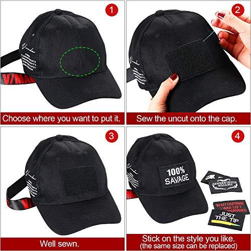 Outus Airsoft Patch 5 20 Pieces Tactical Morale Embroidery Patch Funny Military Patch Full Embroidered Appliques for Caps Bags Vests Military Uniforms