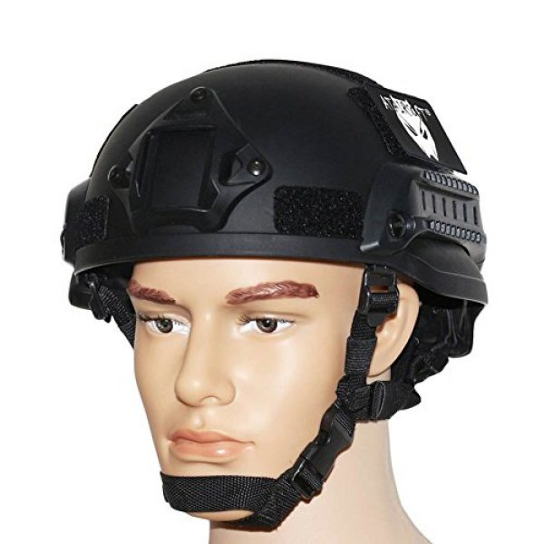 ATAIRSOFT Airsoft Helmet 2 ATAIRSOFT PJ Type Tactical Airsoft Paintball MICH 2002 Helmet with Side Rail & NVG Mount