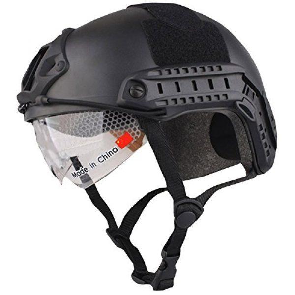 iMeshbean Airsoft Helmet 2 iMeshbean Airsoft Swat Helmet Combat Fast Helmet with Wing-Loc Adapter