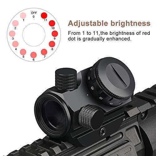 Marmot Airsoft Gun Sight 2 Marmot Red Dot Sight 2 MOA Micro Red Dot Sight 1x22 Compact Scope 11 Brightness Sight