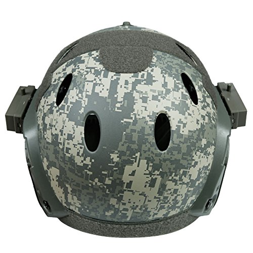 LEJUNJIE Airsoft Helmet 5 LEJUNJIE PJ Tactical Fast Helmet & Full-Covered Military Protective Army Combat Airsoft Paintball Helmet Protect Ears with Mask Goggle