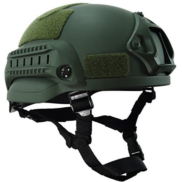 H World Shopping Airsoft Helmet 1 H World Shopping MICH 2002 Combat Protective Helmet with Side Rail & NVG Mount for Airsoft Tactical Military Paintball Hunting