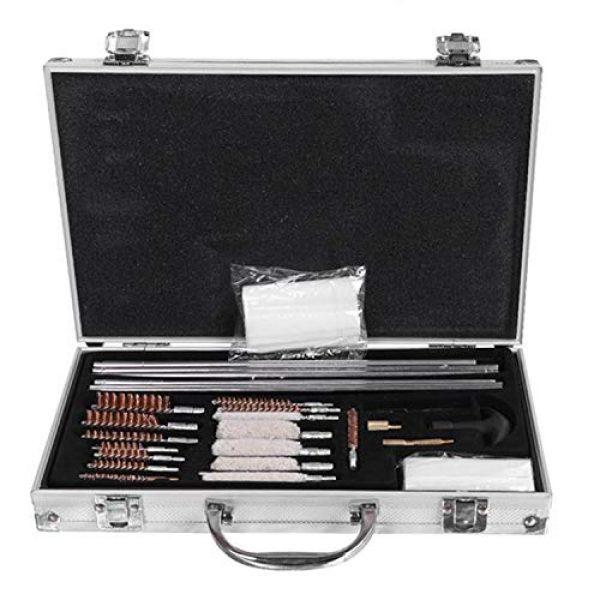 SHUTAO  1 128pcs Outdoor Shotguns Barrel Cleaning Kit Silver