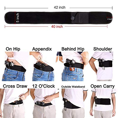 DMAIP  4 DMAIP IWB Belly Band Holster for Concealed Carry Fits Gun Glock P238 Ruger LCP and Similar Sized Guns