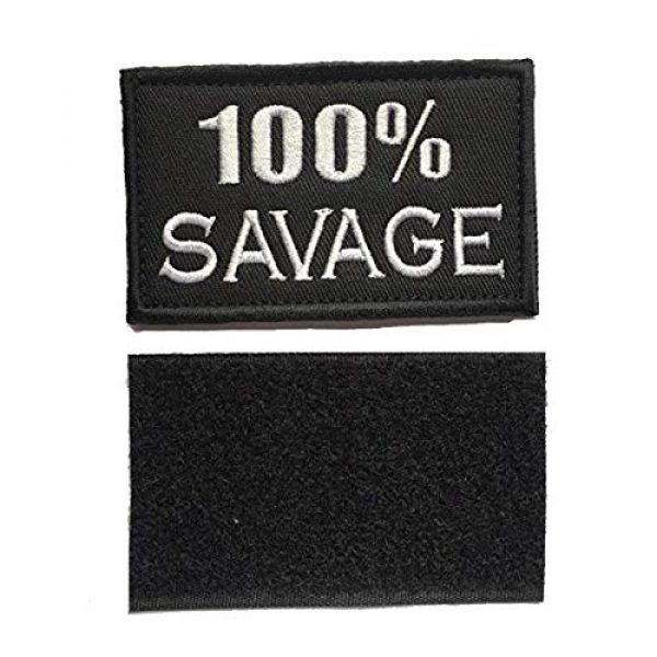 Homiego Airsoft Morale Patch 4 Homiego 100% Savage & Beast Mode On Military Tactical Morale Hook & Loop Badge Patch