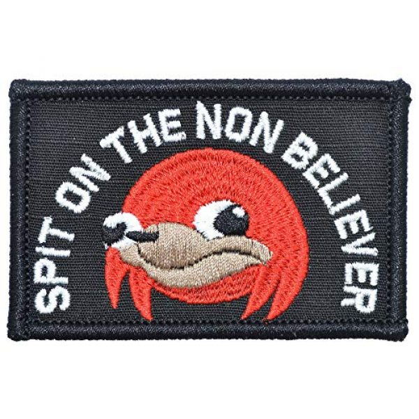 """Tactical Gear Junkie Airsoft Patch 1 Ugandan Knuckles""""Spit On The Non Believer"""" - 2x3 Patch"""