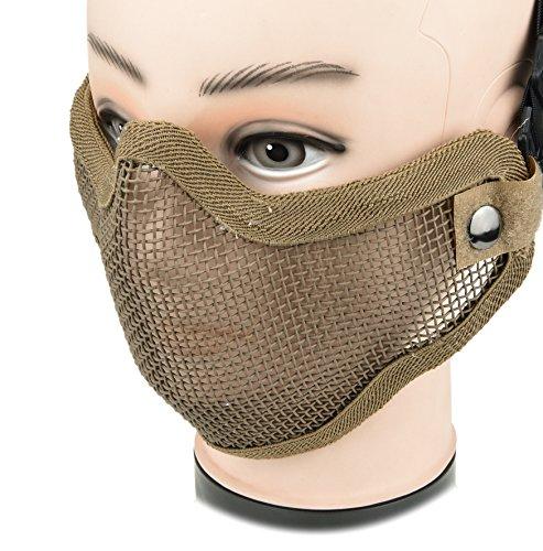 ArcEnCiel Airsoft Mask 7 ArcEnCiel Tactical Airsoft Steel Metal Mesh Half Face Mask