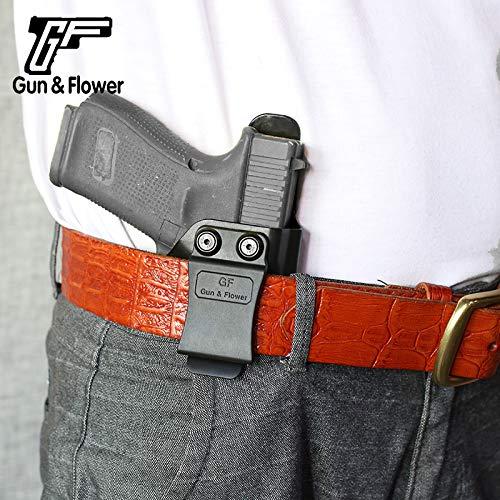 Gun&Flower  7 Gun&Flower Inside Waistband Concealed Carry - IWB Polymer Holster - Adjustable Ride/Cant/Retention