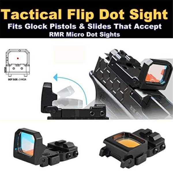ARWIN Airsoft Gun Sight 7 Flip Red Dot Sight RMR Holographic Reflex Sight for Shooting Hunting for Glock or 20mm Picatinny (Black)