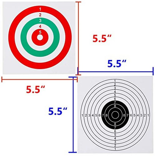 GearOZ Airsoft Target 6 GearOZ Airsoft Pellet Target-Solid Metal Bullet Catcher with 10 PCS Paper Shooting Targets