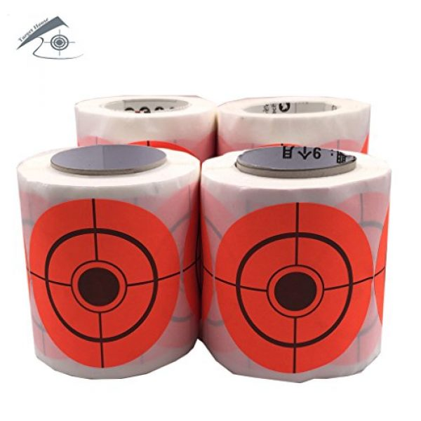 Target House Airsoft Target 2 250 Pack Diameter 6.5 cm Self Adhesive Target Stickers for Shooting