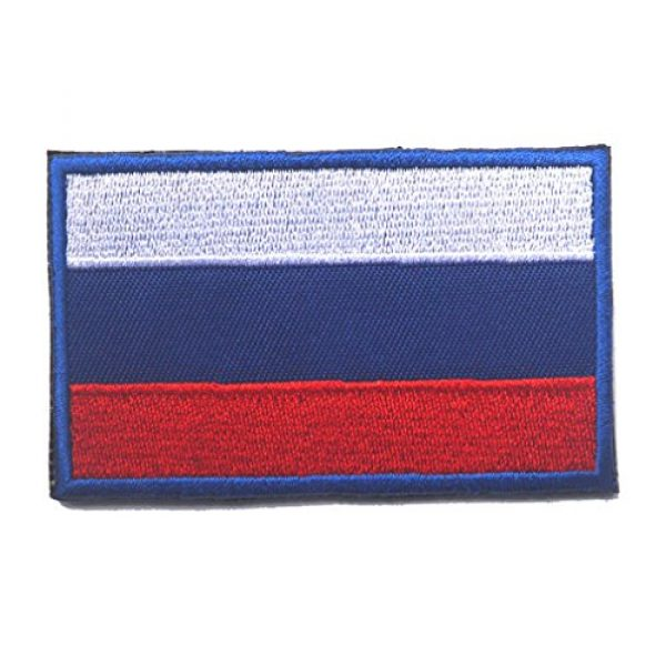 GreatPlus Airsoft Patch 1 Russian Flag Patch Embroidered Military Tactical Flag Patches