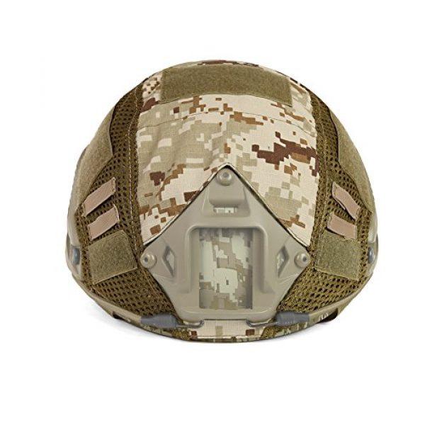 ATAIRSOFT Airsoft Helmet 3 ATAIRSOFT Airsoft Tactical Military Combat Helmet Cover for PJ/BJ/MH Type Fast Helmet Back Pouch (DD)