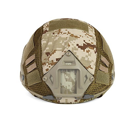 ATAIRSOFT Airsoft Helmet 3 ATAIRSOFT Airsoft Tactical Military Combat Helmet Cover for PJ/BJ/MH Type Fast Helmet Back Pouch (DD)