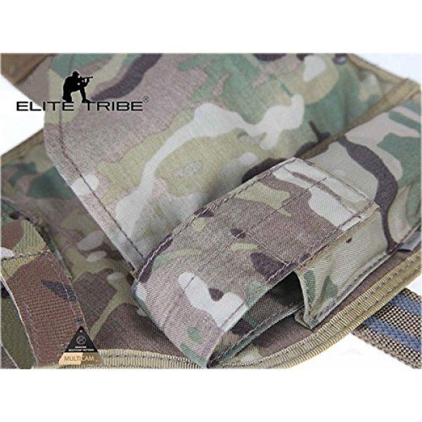 Elite Tribe  4 Elite Tribe MP7 Tactical Leg Holster Shooting Pistol Drop Pouch Multicam Camo Gun Holder Left Right Hand