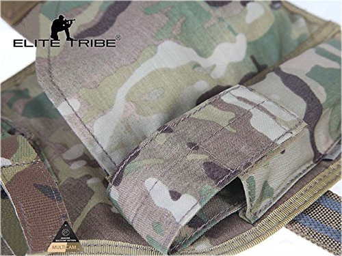 Elite Tribe  4 Elite Tribe MP7 Tactical Leg Holster Shooting Pistol Drop Pouch Multicam Camo Gun Holder Left Right Hand