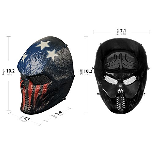 OutdoorMaster Airsoft Mask 5 OutdoorMaster Full Face Airsoft Mask with Metal Mesh Eye Protection
