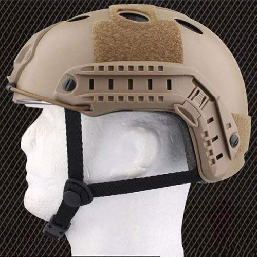ATAIRSOFT Airsoft Helmet 5 ATAIRSOFT PJ Type Tactical Multifunctional Fast Helmet with Visor Goggles Version DE