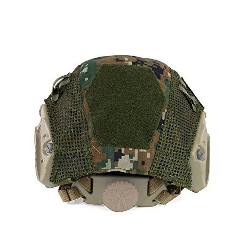 ATAIRSOFT Airsoft Helmet 4 ATAIRSOFT Airsoft Tactical Military Combat Helmet Cover for PJ/BJ/MH Type Fast Helmet Back Pouch (DW)