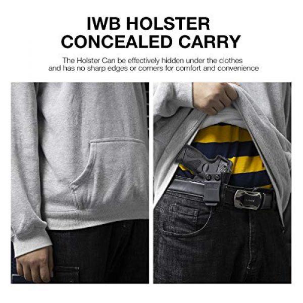 Gun&Flower  6 Gun&Flower Inside Waistband Concealed Carry - IWB Polymer Holster - Adjustable Ride/Cant/Retention