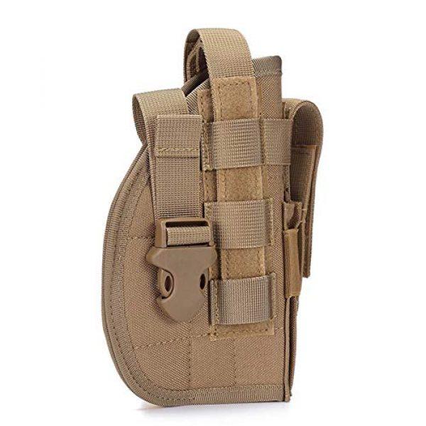 ESA Supplies  2 ESA Supplies Molle Gun Holster Pounch Airsoft Handgun Holster Tactical Holsters for Pistols Glorck G17 G18 G19 G26 G34 M1911
