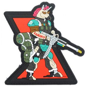 King Kong Somersault Airsoft Morale Patch 1 Unicorn Airsoft Gun Soldier Morale Tactical PVC Patch