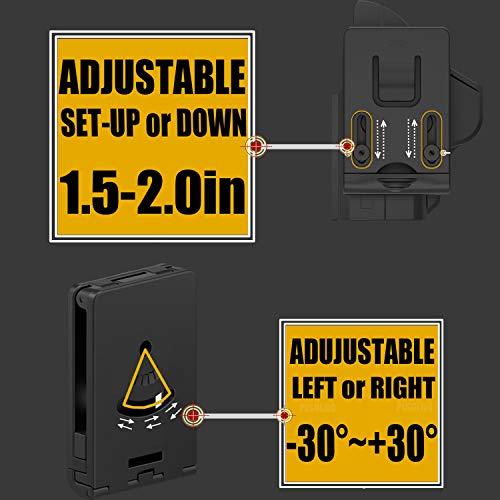 Belt Clip Holster Tactical Outside Pistol Belt Holster 60° Adjustable Carry Angle