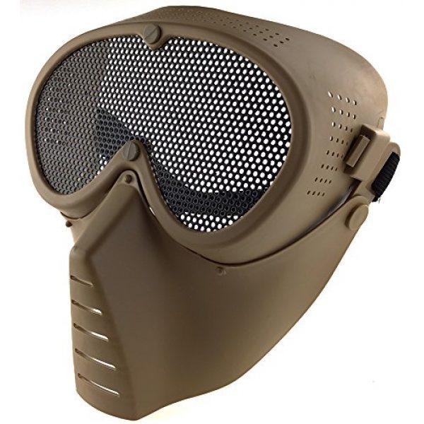 SportPro Airsoft Mask 3 SportPro CM Mesh Eye Protection Full Face Mask for Airsoft - Tan