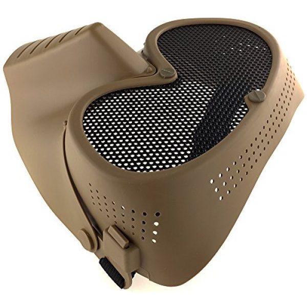 SportPro Airsoft Mask 6 SportPro CM Mesh Eye Protection Full Face Mask for Airsoft - Tan