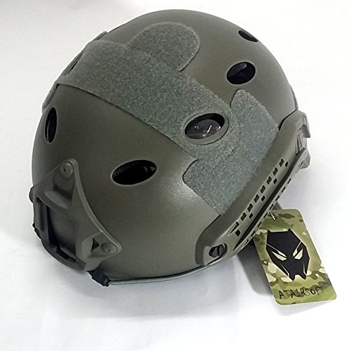 ATAIRSOFT Airsoft Helmet 2 ATAIRSOFT PJ Type Tactical Fast Helmet with Visor Goggles Version FG