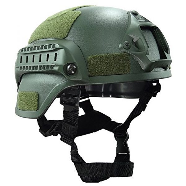 ATAIRSOFT Airsoft Helmet 2 ATAIRSOFT Tactical Airsoft Paintball MICH 2000 Helmet with Side Rail & NVG Mount