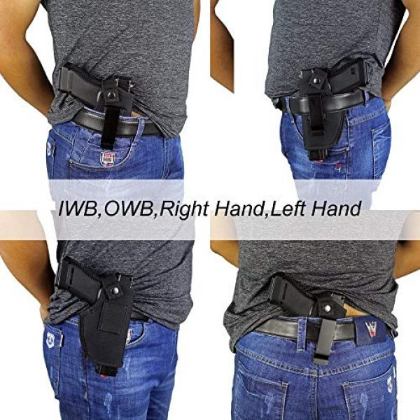 ACEXIER  6 ACEXIER Hunting Concealed Belt Holster Tactical Pistol Bags Waistband IWB OWB Gun Holster fits Subcompact to Large Handguns for Right&Left Hand Draw