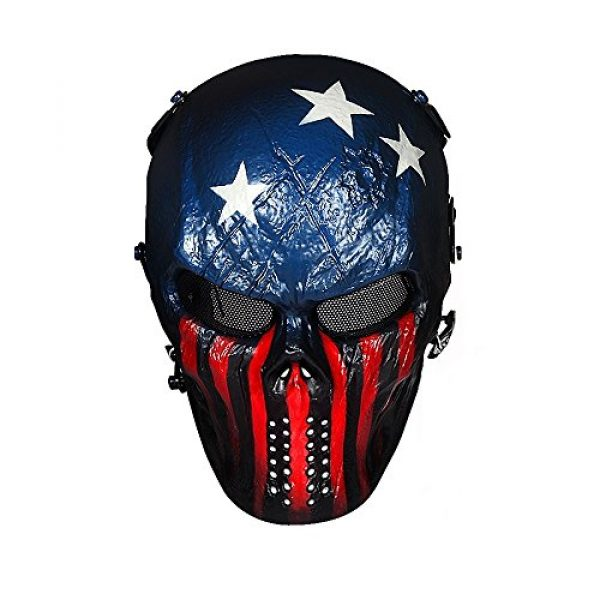 OutdoorMaster Airsoft Mask 1 OutdoorMaster Full Face Airsoft Mask with Metal Mesh Eye Protection