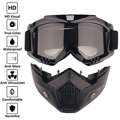 Road Riding UV Motorbike Glasses with Dustproof Mask