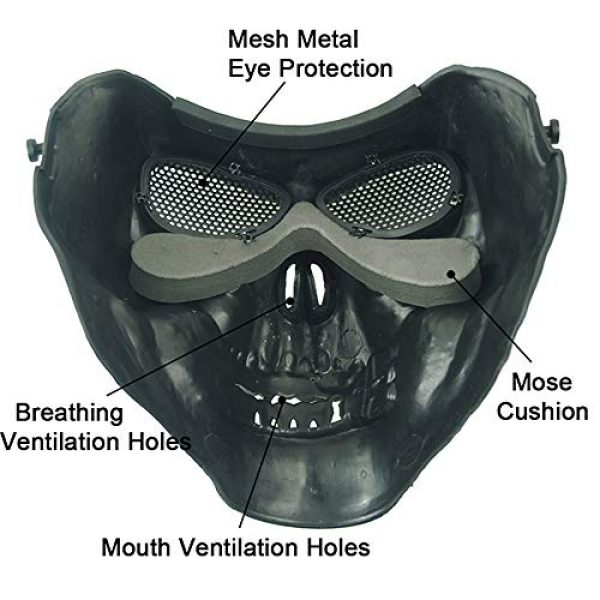 Anyoupin Airsoft Mask 2 Anyoupin Airsoft Half Face Masks