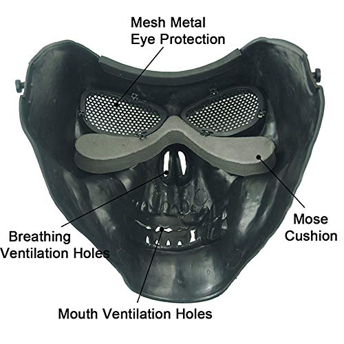 Anyoupin Airsoft Mask 2 Anyoupin Airsoft Half Face Masks