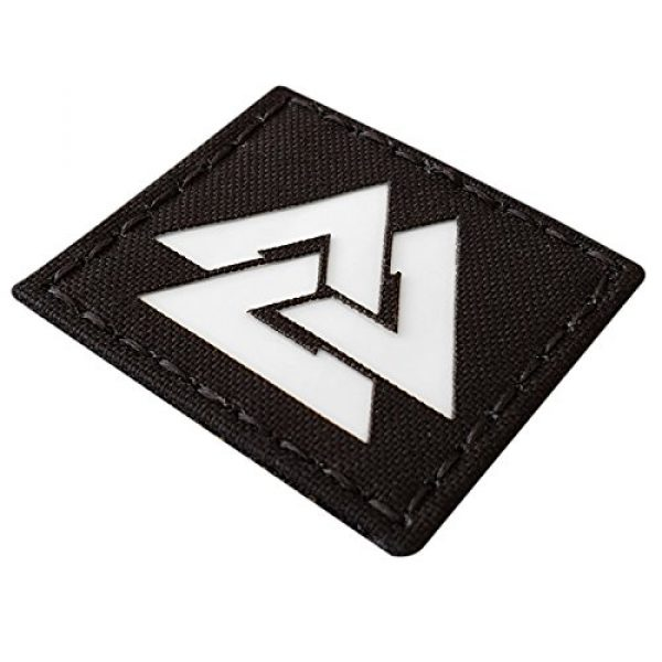 Tactical Freaky Airsoft Morale Patch 5 Glow Dark Viking Valknut Norse 2x2 GITD Tactical Morale Fastener Patch