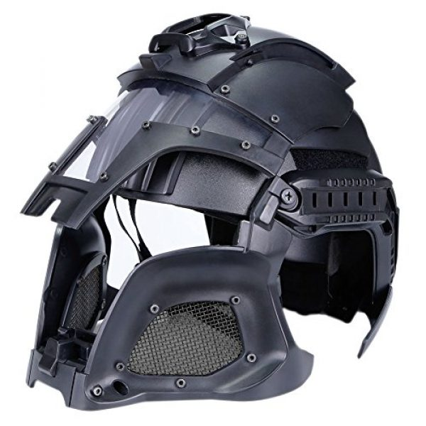 SUNRIS Airsoft Helmet 5 Tactical Military Ballistic Helmet Side Rail NVG Shroud Transfer Base Army Combat Airsoft Paintball Full Face Mask Helmet