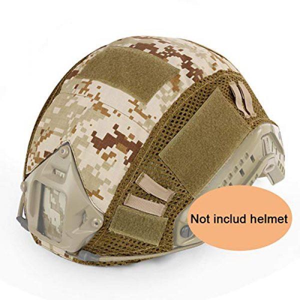 ATAIRSOFT Airsoft Helmet 1 ATAIRSOFT Airsoft Tactical Military Combat Helmet Cover for PJ/BJ/MH Type Fast Helmet Back Pouch (DD)
