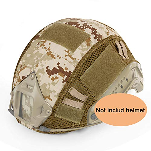ATAIRSOFT Airsoft Helmet 1 ATAIRSOFT Airsoft Tactical Military Combat Helmet Cover for PJ/BJ/MH Type Fast Helmet Back Pouch (DD)